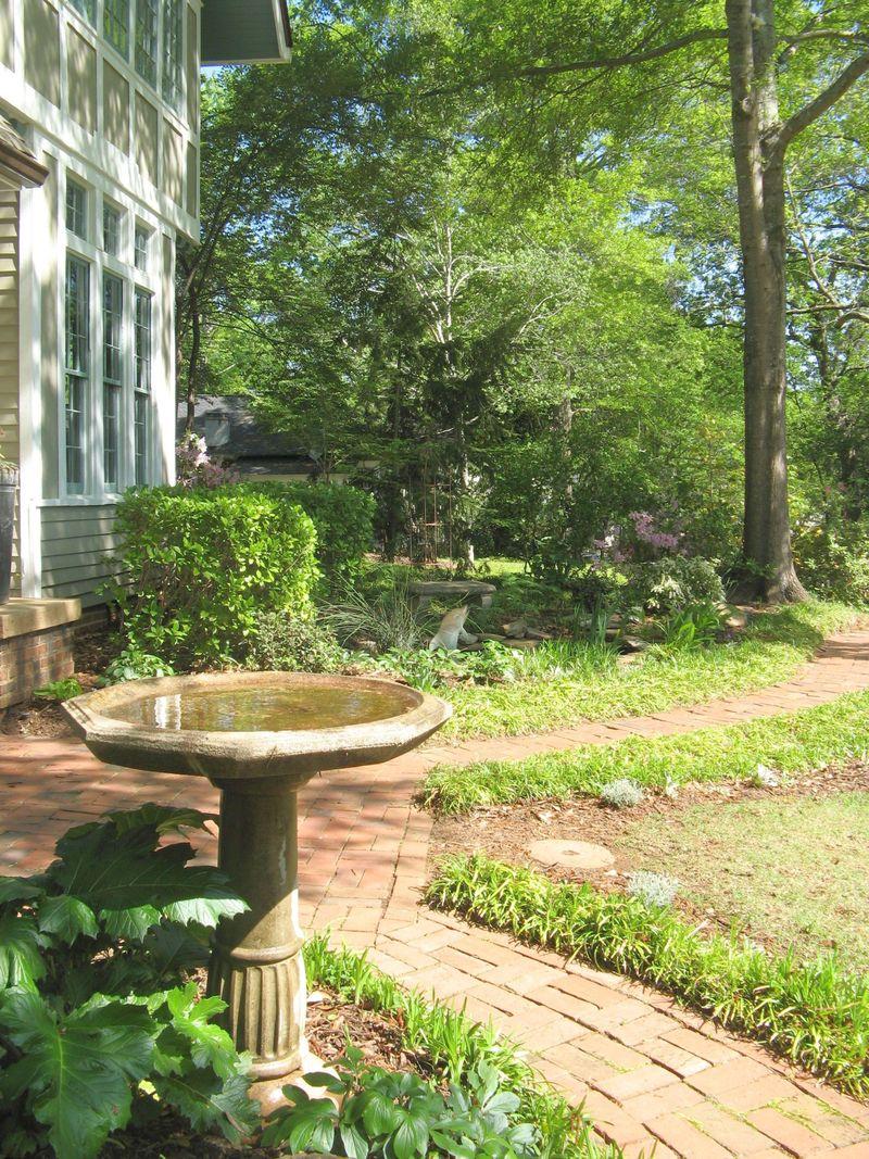 Athens Georgia Garden Tour 2013 birdbath