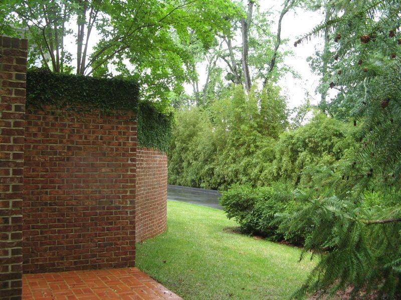 Macon Georgia Garden Tour 2013 brick wall corner